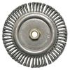 Weiler Roughneck&Reg; Stringer Bead Wheel, 7 In D X 3/16 In W, .02 In Steel Wire WEI 804-09100