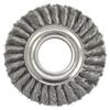 Weiler Wide Face Standard Twist Knot Wire Wheel, 6 In Dia. X 1 3/8 W, 8,000 RPM WEI 804-09180