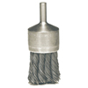 Weiler Hollow-End Knot Wire End Brush, Steel, 22,000 RPM, 1 1/8 WEI 804-10027P