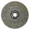 Weiler Crimped Wire Wheel, 4 In D X 1/2 In W, .014 In Stainless Steel Wire, 14,000 RPM WEI 804-13085
