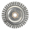 Abrasives: Weiler - Stringer Bead Brush, 4 1/2 In D X 3/16 In W, .02 In Carbon Steel, 12,500 RPM