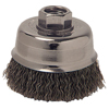 Anchor Brand Crimped Wire Cup Brush, 3 1/2 In Dia., 5/8-11 Arbor, 0.0145 In Carbon Steel ANR 102-35CC58