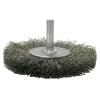 Weiler Crimped Wire Radial Wheel Brush, 3 In D, .008 Steel Wire WEI 804-17964
