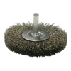 Weiler Crimped Wire Radial Wheel Brush, 3 In D, .008 Stainless Steel Wire WEI 804-17978