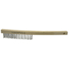 Weiler Economy Scratch Brushes, 3 X 19 Rows, Wire, Curved Hardwood Handle WEI 804-25154
