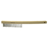 Weiler Economy Scratch Brushes, 4 X 18 Rows, Wire, Curved Hardwood Handle WEI 804-25202