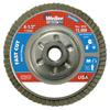 Weiler Vortec Pro Abrasive Flap Discs,4.5, 120 Grit, 5/8 Arbor, 13,000 RPM, Alum Back WEI 804-31317