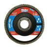 "Abrasives: Weiler - Vortec Pro Abrasive Flap Discs,4.5"", 120 Grit, 7/8 Arbor, 13,000 RPM, Phenolic"