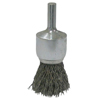 Weiler Vortec Pro Stem Mtd Crimped Wire End Brushes, Stainless, 22,000 RPM, 1 X 0.006 WEI 804-36285