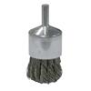 Weiler Vortec Pro Stem Mtd Knot Wire End Brushes, Carbon Steel, 22,000 RPM, 1 X 0.02 WEI 804-36051