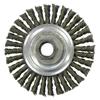 Weiler Vortec Pro&Reg; Knot Wire Wheel, 4 In D X Narrow W, .02 In Carbon Steel, 20,000 RPM WEI 804-36218
