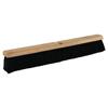 Weiler Black Tampico Medium Sweep Brushes, 24 In Hardwood Block, 3 In Trim L WEI 804-42008