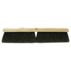 brooms and dusters: Weiler - Black Horsehair/Polypropylene Blend Fine Sweep Brush, 24 In Hardwd, 3 In Trim L