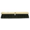 Weiler Horsehair/Tampico Medium Sweep Brushes, 24 In Hardwood Block, 3 In Trim L, Bk WEI 804-42017