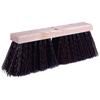 Weiler Street Brooms, 16 In Hardwood Block, 5 1/4 In Trim L, Brown Polypropylene Fill WEI 804-42033
