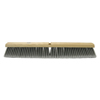 Weiler Flagged Silver Polystyrene Fine Sweep Brushes, 36 In Hardwood Block, 3 In Trim L WEI 804-42098