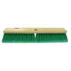 floor brush: Weiler - Perma-Sweep Floor Brush, 18 In Foam Block, 3 In Trim L, Flagged Gn Polystyrene
