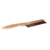 Weiler Shoe Handle Scratch Brushes, 10 In, 1X17 Rows, Ss Wire, 3/4 Trim, Wood Handle WEI 804-44235