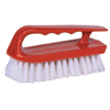 cleaning chemicals, brushes, hand wipers, sponges, squeegees: Weiler - Hand Scrub Brush, 6 In Plastic Block, 1 1/8 In Trim L, White Polypropylene Fill
