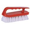 Weiler Hand Scrub Brush, 6 In Plastic Block, 1 1/8 In Trim L, White Polypropylene Fill WEI 804-44395