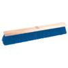 Weiler Coarse Sweeping Contractor Broom, 24 In Hardwd, 3 In Trim L, Stiff Blue Poly WEI 804-44590