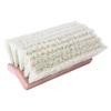 Weiler Bi-Level Scrub Brush, 10 In Foam Block, 2 3/4 In Trim L, Flagged Wh Polystyrene WEI 804-44699