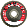 Weiler Saber Tooth Abrasive Flap Discs, Ceramic, 4 1/2 In Dia. X 7/8 In, 60 Grit WEI 804-50131
