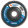 Abrasives: Weiler - Tiger X Flap Disc, 4 1/2 In Flat, 40 Grit, 7/8 In Arbor