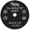 Weiler Vortec Pro™ Type 1 Thin Cutting Wheels WEI 804-56273