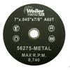Weiler Vortec Pro™ Type 1 Thin Cutting Wheels WEI 804-56275