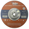 Weiler Wolverine Combo Wheels, 9 In Dia, 1/8 In Thick, 5/8 In Arbor, 24 Grit, T WEI 804-56423