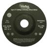 Weiler Vortec Pro™ Type 27 Pipeline - Cutting & Light Grinding Wheels WEI 804-56428