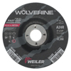 Weiler Wolverine Grinding Wheels, 5 Dia, 1/4 Thick, 7/8 Arbor, 24R, Aluminum Oxide WEI 804-56466