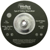 Weiler Vortec Pro™ Type 27 Cutting Wheels WEI 804-56477