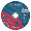 Weiler Tiger Thin Cutting Wheels, 6 In Dia, .045 In Thick, 7/8 In Arbor, Grit 24 WEI 804-57022