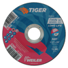 Weiler Tiger Thin Cutting Wheels, 4 1/2 In Dia, .045 In Thick, 5/8 In-11 Arbor, Grit 60 WEI 804-57041