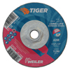 Weiler Tiger Grinding Wheels, 4 1/2 In Dia, .045 In Thick 5/8-11 Arbor WEI 804-57120