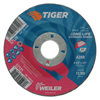 Weiler Tiger Grinding Wheels, 4 1/2 In Dia, .045 In Thick, 7/8 In Arbor WEI 804-57121