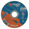 Weiler Tiger Zirc Thin Cutting Wheels, 4 1/2 In Dia, .045 Thick, 7/8 In Arbor, Grit 60 WEI 804-58000