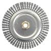 Weiler Dually&Trade; Stringer Bead Wheel, 7 In D X 3/16 In W, .02 In Carbon Steel, 9,000 RPM WEI 804-79800