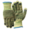 Wells Lamont Whizard Metalguard Heavy Weight Gloves With PVC Dots, Large, Gray/Gray/Yellow WLL 815-1881L