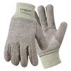 Wells Lamont Jomac String Knit Gloves, X-Large, Knit-Wrist, Brown/White WLL 815-642HR