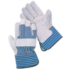 Wells Lamont Select Shoulder Split Leather Palm Gloves, Large, Blue Stripes/Gray WLL 815-Y3106L