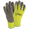 Wells Lamont Flextech Hi-Visibility Knit Thermal Gloves W/Nitrile Palm, Large, Green/Gray WLL 815-Y9239TL