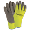 Wells Lamont Flextech Hi-Visibility Knit Thermal Gloves W/Nitrile Palm, 2X-Large, Green/Gray WLL 815-Y9239TXXL