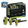 Wilton B.A.S.H Mechanics Hammer Kit, 5 Lb; 3 1/4 Lb; 3 1/2 Lb, Rubber/Steel WLT 825-11111