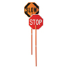 Cortina Safety Paddle, Silk-Screened Plastic, 81 Hndl, Stop/Slow, Red/White/Orange/Blk ORS 831-03-827P