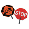 Cortina Safety Paddle, Silk-Screened Plastic, 9 Hndl, Stop/Slow, Red/White/Orange/Blk ORS 831-03-851