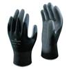 Gloves Nylon Gloves: SHOWA - Hi-Tech Polyurethane Coated Gloves, Large, Black/Gray