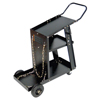 Best Welds MIG Welding Carts, 12 1/4 In X 33 In, 3 Shelves, 125 Lb Capacity, Black BWL 900-WC-1228